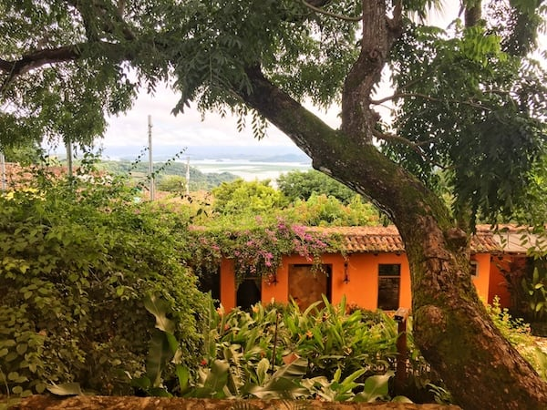 The view from the honeymoon suite at Los Almendros de San Lorenzo in Suchitoto