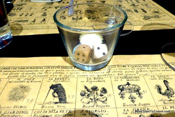 Giocco dell'Oca, an old Italian board game