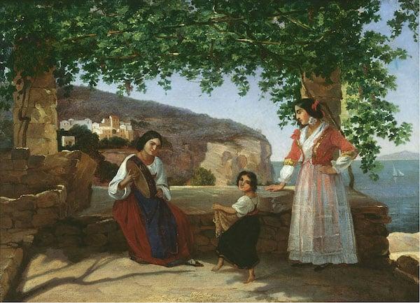 1846 picture of Italian women dancing the tarantella (Credit: Wikipedia)