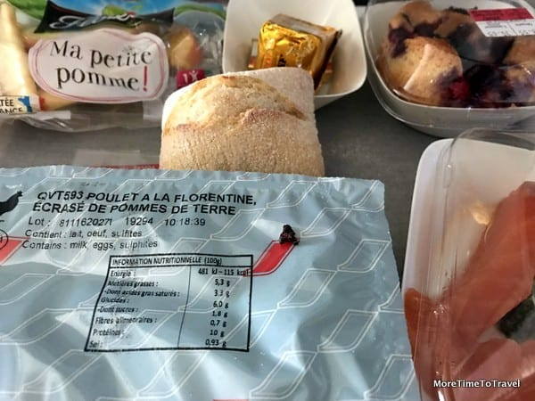 Air France lunch