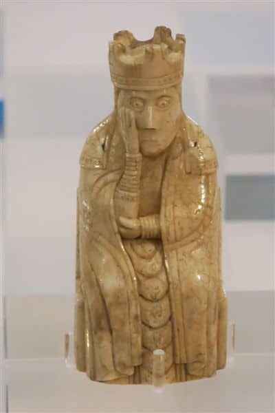 A Lewis Chessman made from walrus ivory