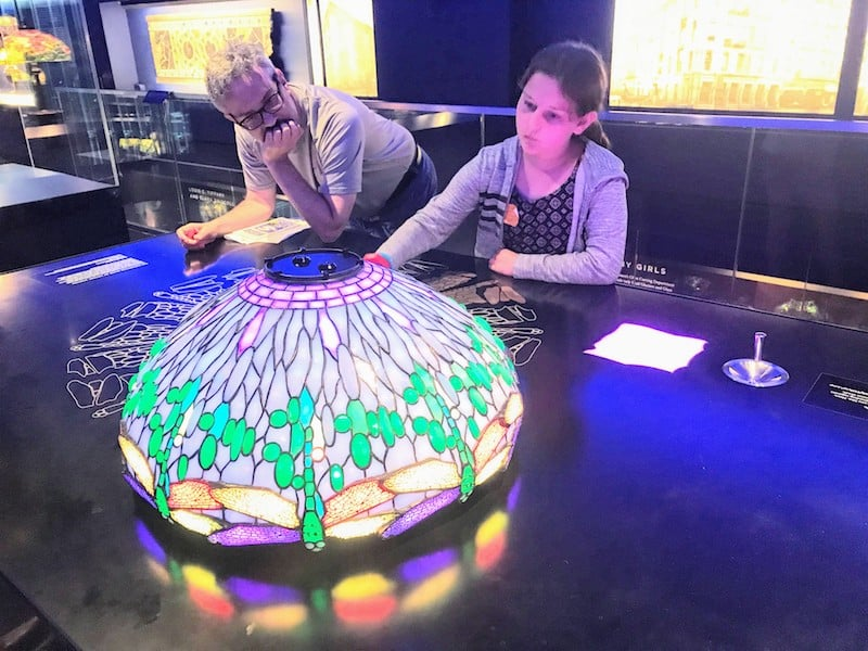 Interactive exhibit that allows visitors to design Tiffany lamps (Credit: Jerome Levine)
