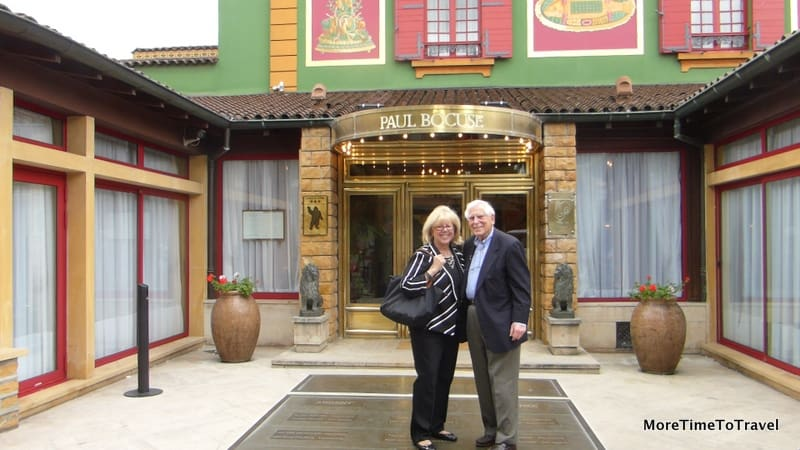 Irene and Jerry at the Paul Bocuse restaurant in Collonges