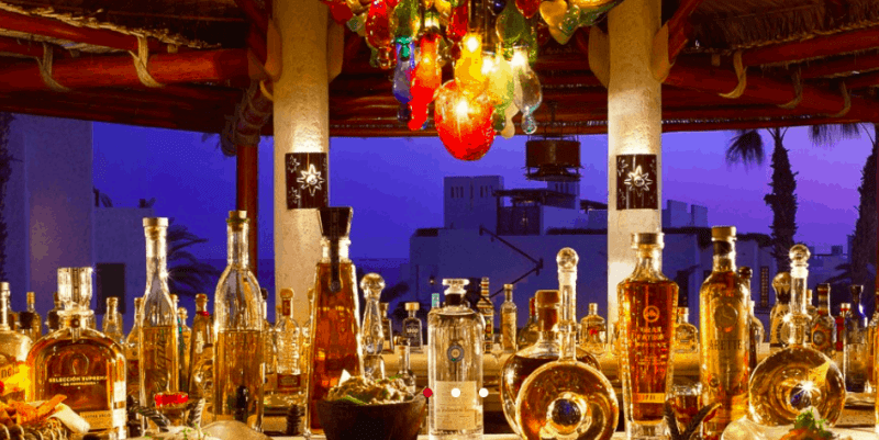 Tequila and ceviche bar at Rosewood Las Ventanas in Los Cabos