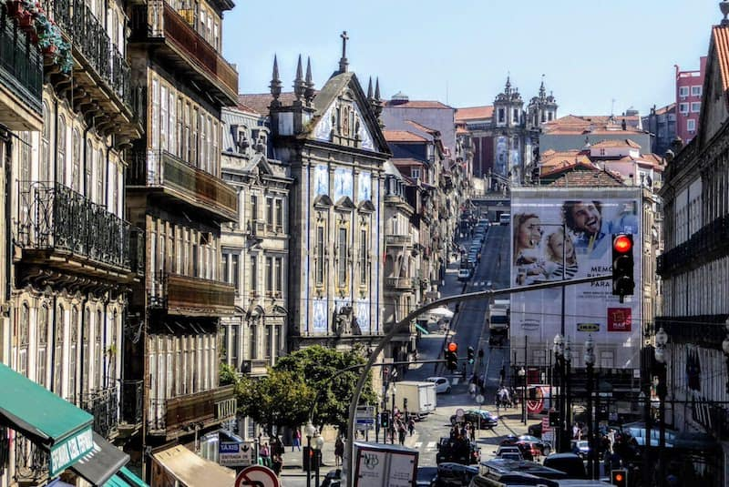 Typical street in Porto