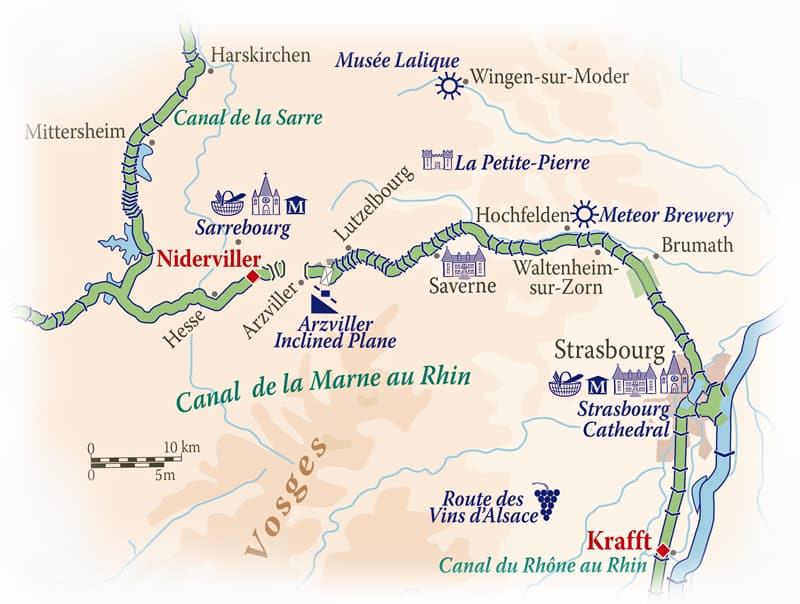 Our route from Niderviller to Krafft