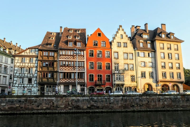 A Day in Strasbourg: Buildings along the riverbank