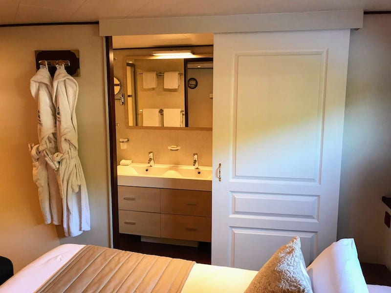 What to Pack for a Barge Cruise: Stateroom on European Waterways barge Panache