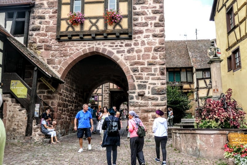 Best Day Trip from Strasbourg - A door to the city of Riquewihr dating back to 1500