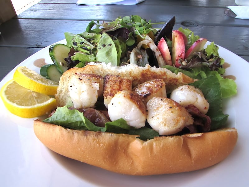 Amazing Scallop Roll at the Lobster Barn