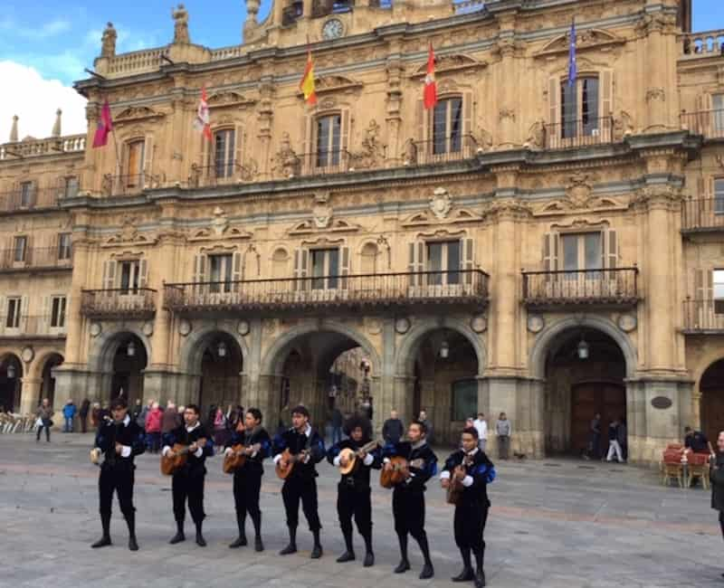Salamanca City Hall and impromptu concert