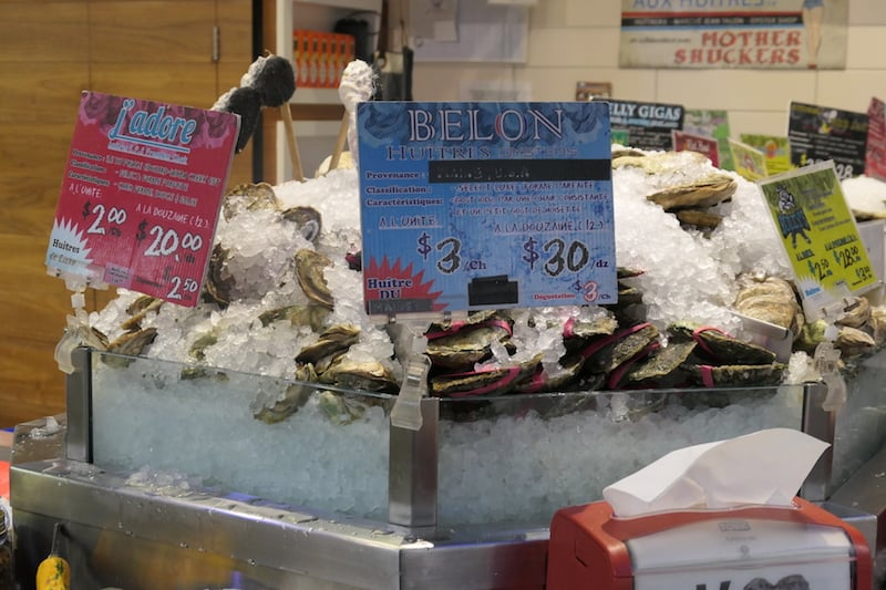 Oysters at Jean Talon Market