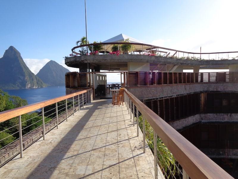Futuristic Jade Mountain Resort in Saint Lucia