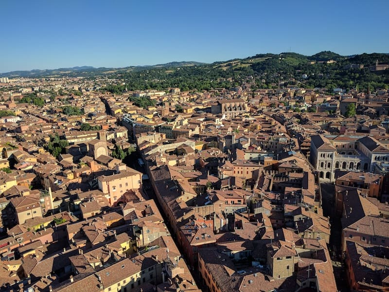 Bologna from the Asinelli Tower (Credit: Andrew Levine)