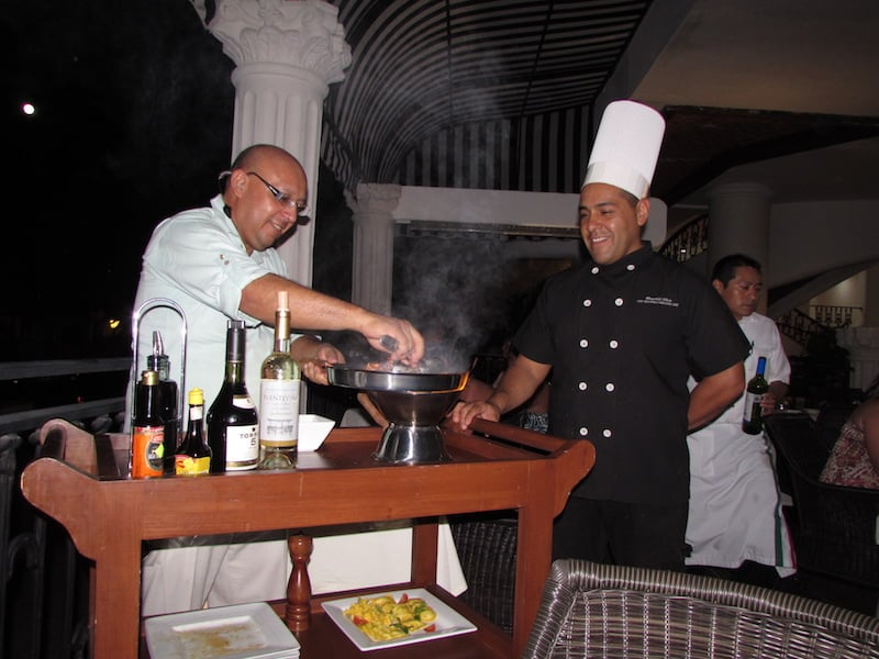 Tableside cooking at The Royal