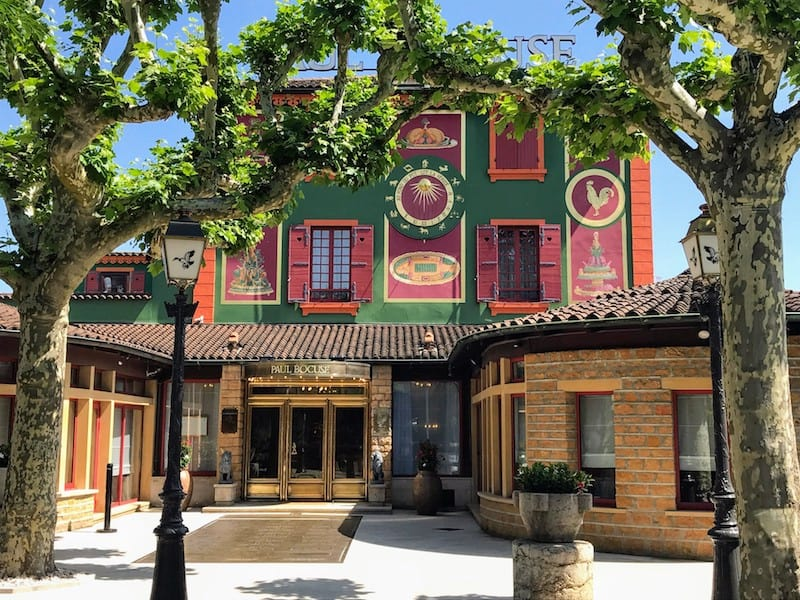 Exterior of the Bocuse Restaurant in Colognes