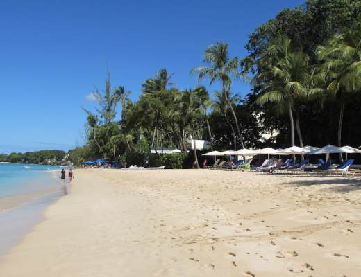 Wide beach at Fairmont Royal Pavilion in Barbados
