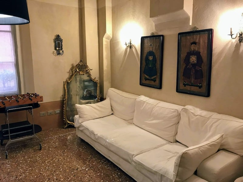 Living room of our apartment in Bologna