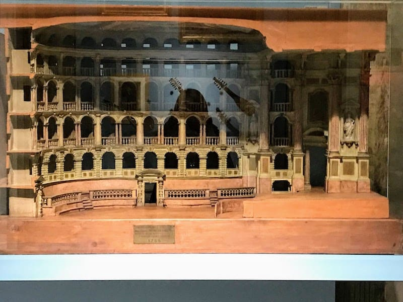 Wooden model at the International Museum of Music in Bologna