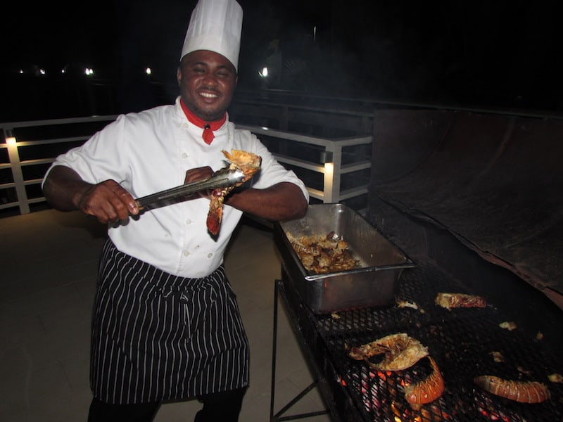 Lobster off the grill at Hedonism II