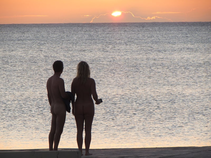 Sunset at Hedonism II: A clothing optional resort in Jamaica