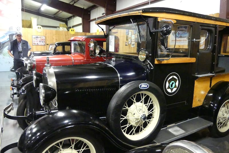 1928 Ford Paddy Wagon at Jack Sisemore RV Museum