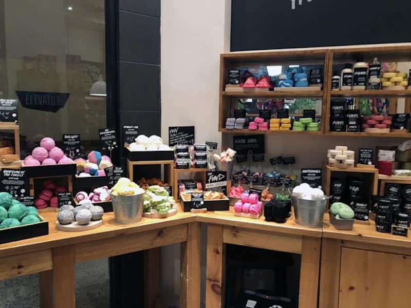 Shopping at Lush (Credit: Nancy Monson)