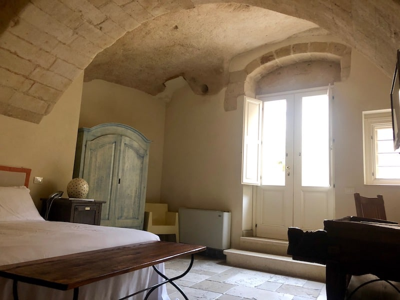 One of the 40 individual cave rooms at the Locanda di San Martino hotel