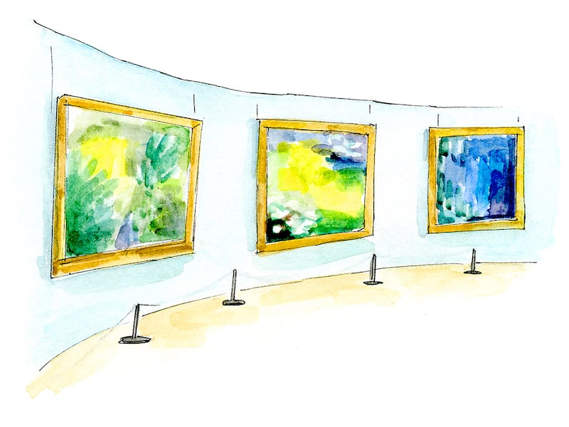 Top 5 Little Museums in Paris - Musée Marmottan Monet (Illustrated by Emma Jacobs)