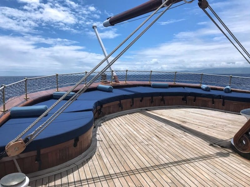 The Blue Lagoon: A relaxing spot at the stern of Sea Cloud