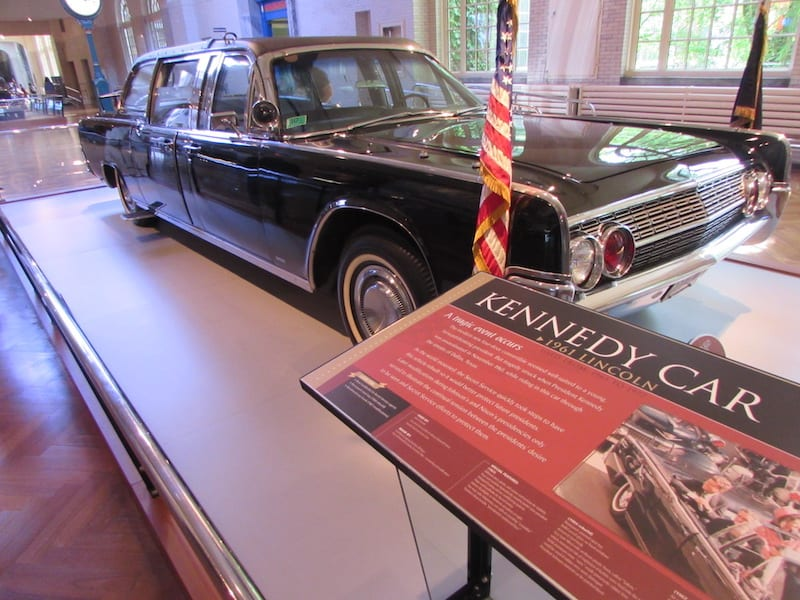 The 1963 car in which President Kennedy was shot