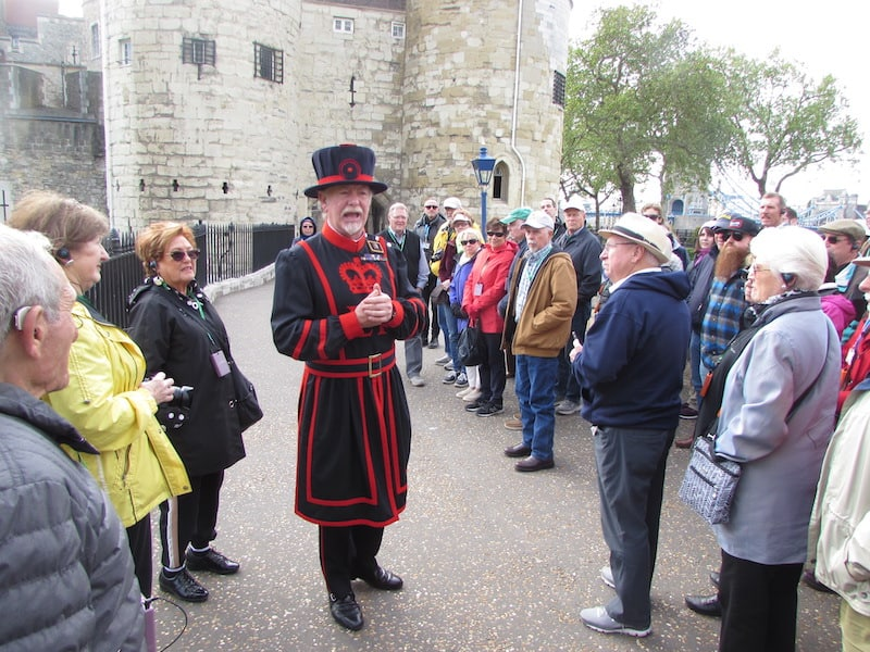 A private Tauck guide at the Tower of London