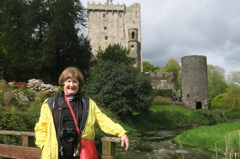 Sandra at Blarney Castle