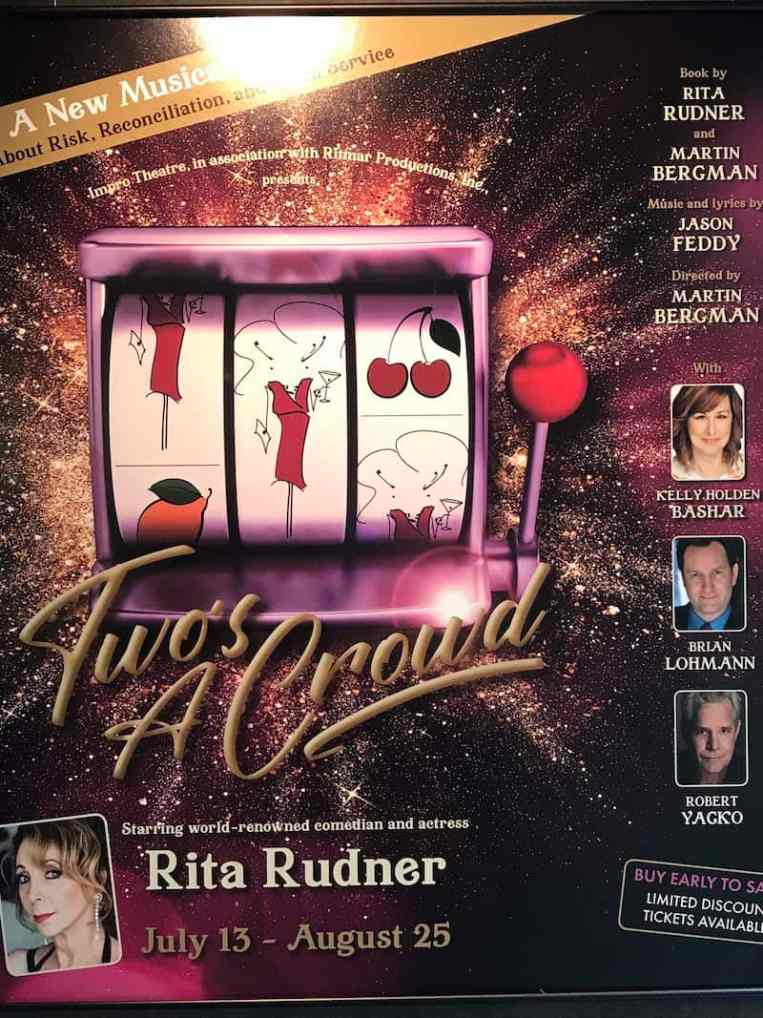 Rita Rudner Off-Broadway Poster in the theater lobby