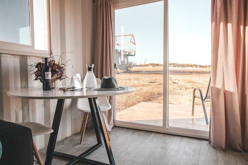 A hotel room at a new destination