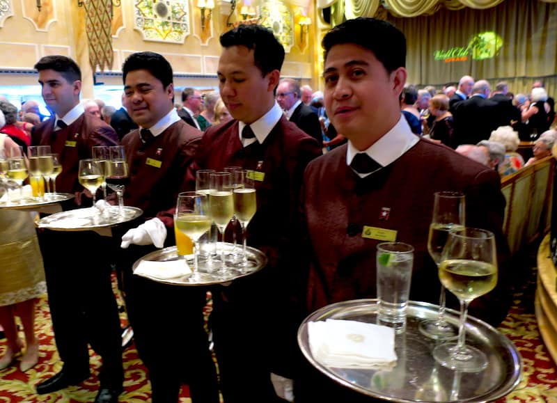 Champagne Reception in the Queens Room for Voyage du Vin cruise