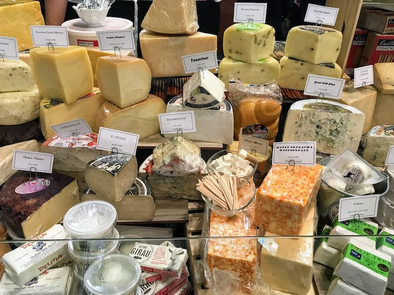 Cheeses on display at the NY Specialty Food Show (Credit: Irene S. Levine)