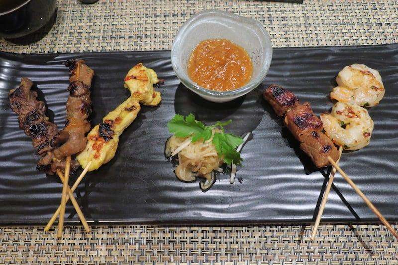 Satay Sampler Appetizer at Tamarind