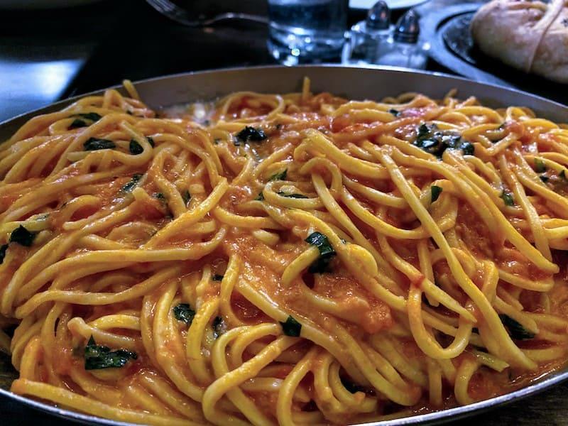 Best Meals: The chef's signature dish: Pasta al Pomodora