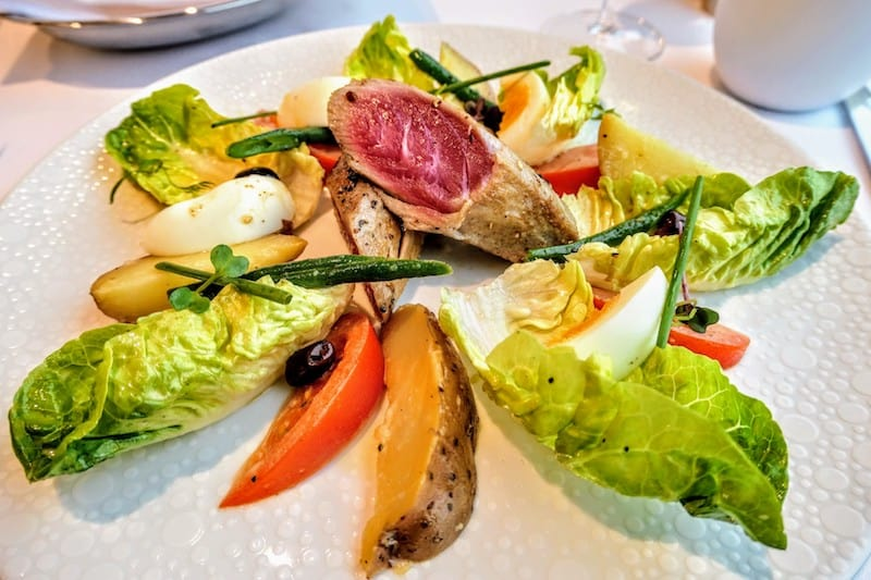 Haven on Norwegian Encore: Nicoise lunch salad at The Restaurant at The Haven