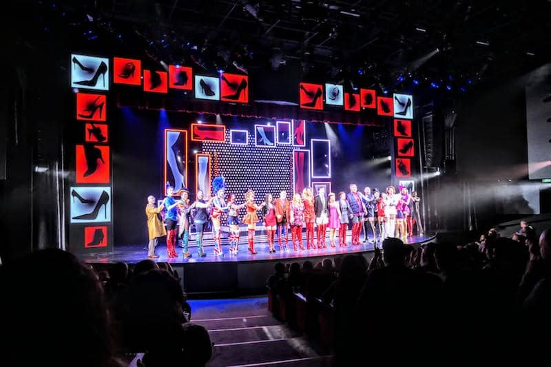 Norwegian Encore offers Broadway Shows: Here a production of Kinky Boots