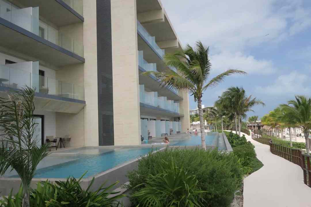Beachfront swim-out rooms at Haven Riviera Maya