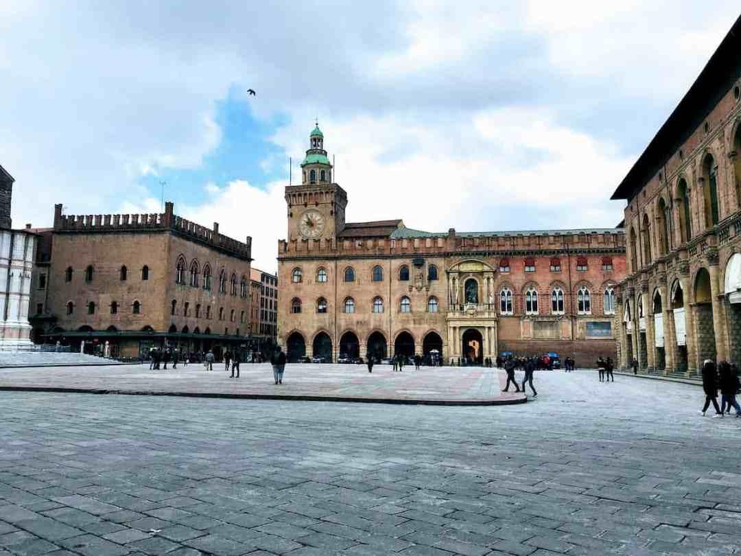 The Magnificent Piazza Maggiore in Bologna