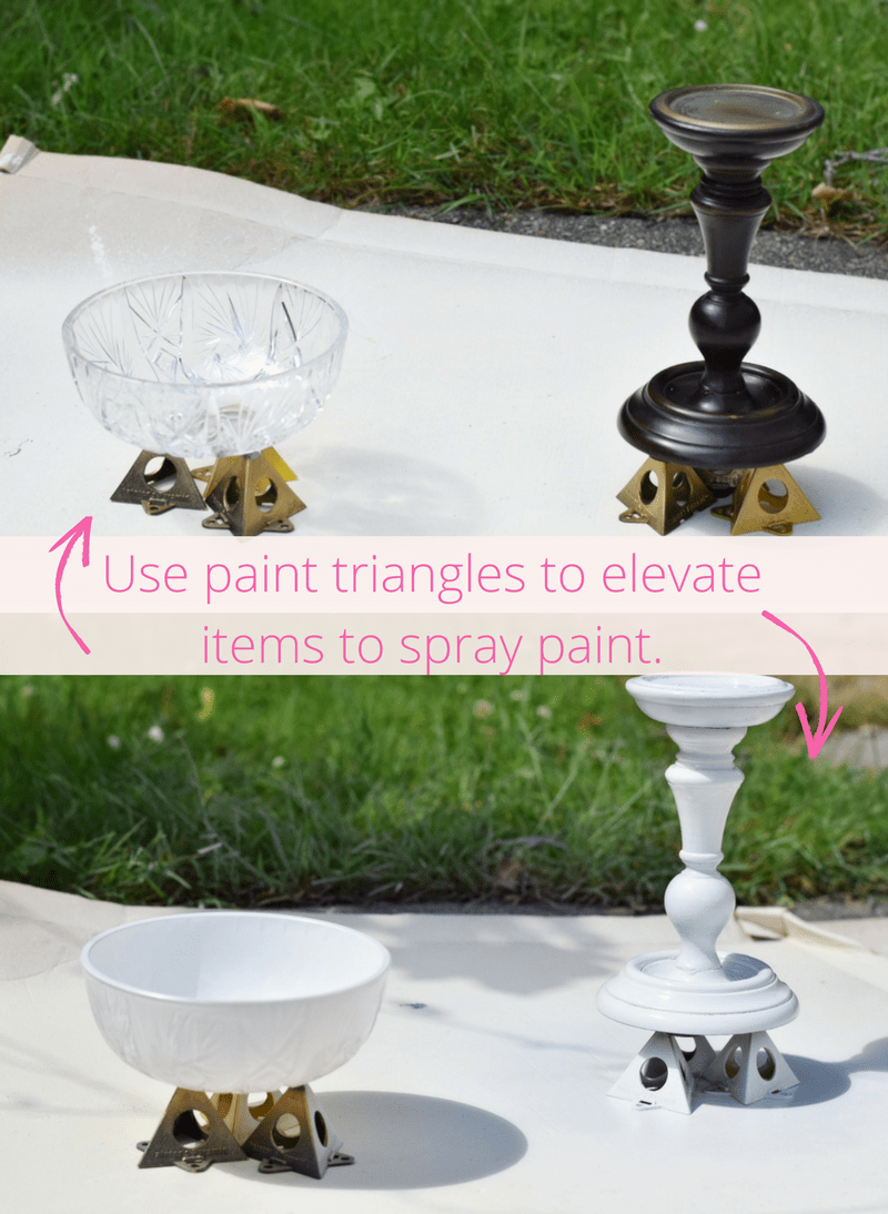 DIY Spray Paint Hat Stand_Reuse Candlestick_Easy Spray Paint Project