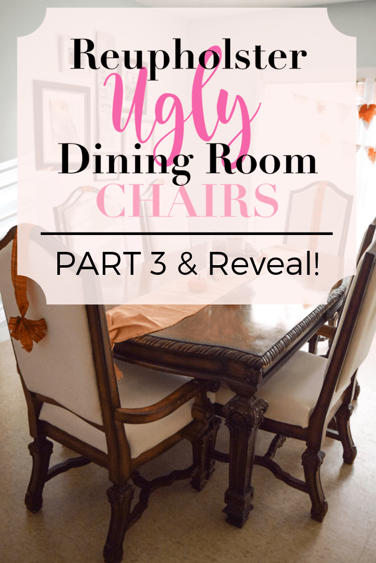Diy Dining Chairs Recover The Seat Cushion More To Mrs E