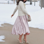 Rose Pleated Dress For Valentine's Day