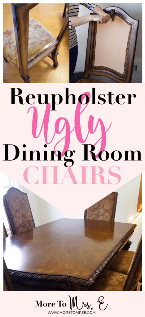 Reupholster Dining Room Chairs Dissassembly More To Mrs E