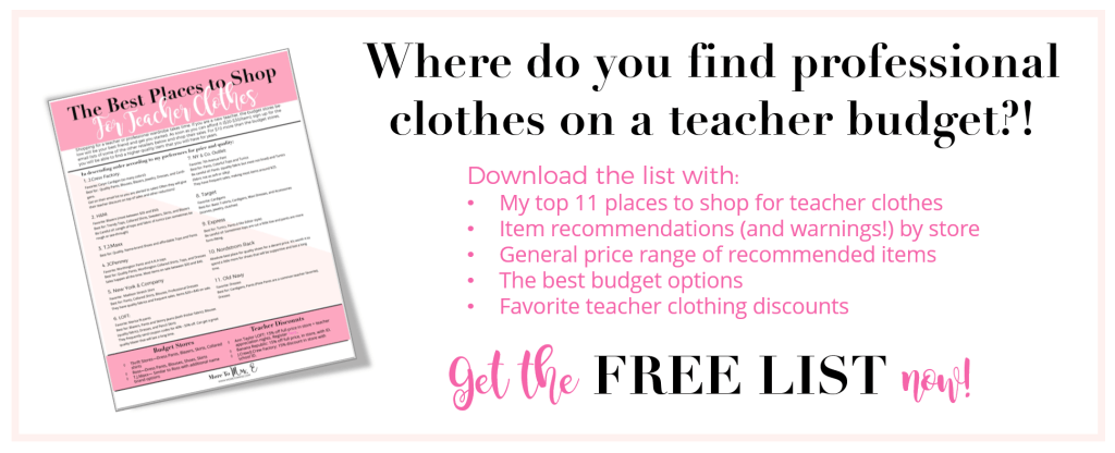 Stores to Shop for Teacher Clothes