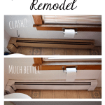 DIY Bathroom: Baseboard Heaters and Wallpaper Borders