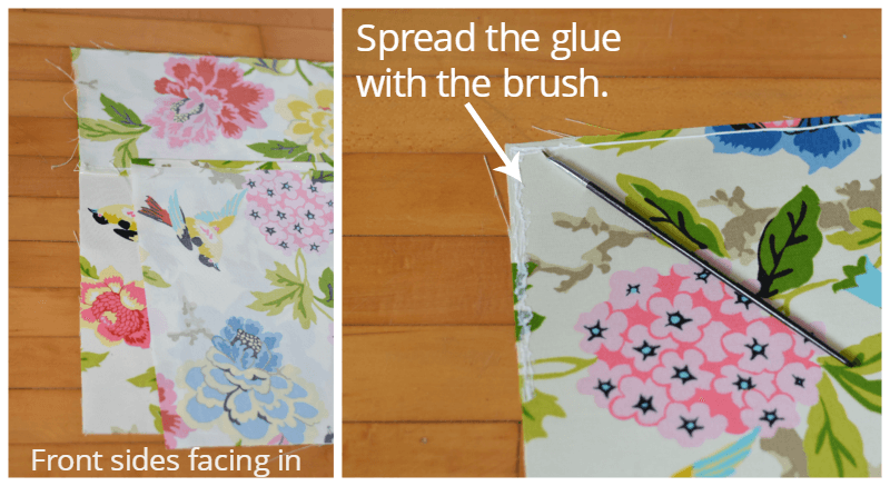 Tutorial No Sew Envelope Pillow glue